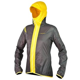 Geaca Trail Running Barbati La Sportiva Oxygen Evo Windbreaker Grey Yellow