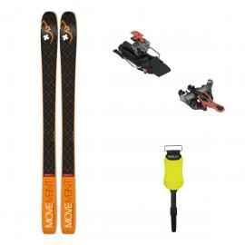 Pachet Schiuri De Tura Movement Session 95 2021 Cu Legaturi ATK Raider 12 Orange 97 Mm Si Piei De Foca Pomoca Climb 2.0