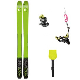 Pachet Schiuri De Tura Movement Vertex 84 2020 Cu Piei De Foca Pomoca Climb 2 Si Legaturi Dynafit Speed Radical Black Yellow