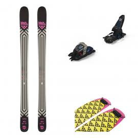 Schiuri Big Mountain Freeride Black Crows Corvus 2021 Cu Legaturi Duke PT 16 Si Piei De Foca Black Crows Pilus To Cut 135 Mm